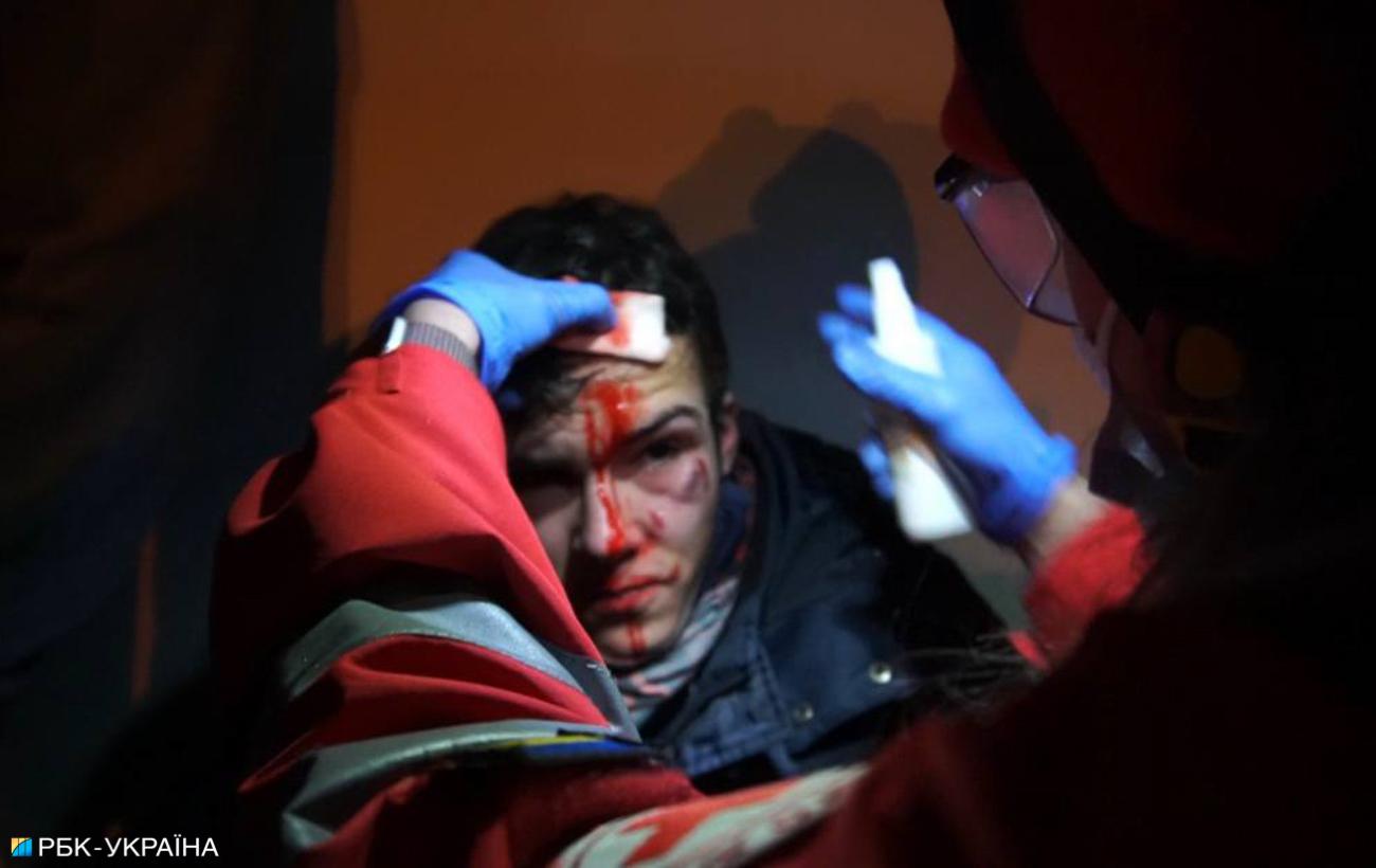 Протесты в поддержку Стерненка: есть пострадавший