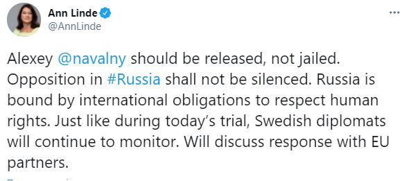 """""""Чистий цинізм"""": реакція світу на вирок Навальному"""